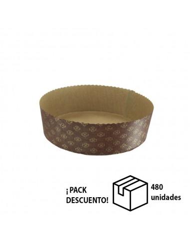 CAJA MOLDE RÍGIDO BAJO PARA PANETTONE 950 GR (CAJA 480 UN)