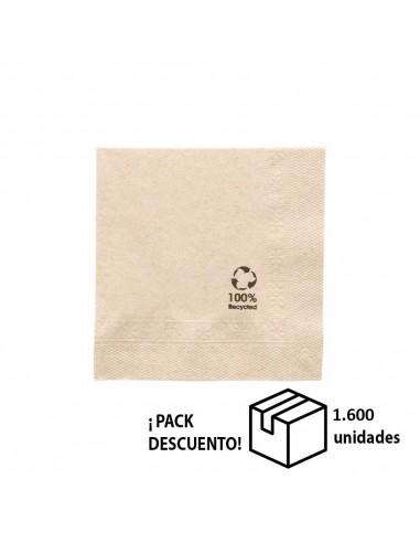 CAJA SERVILLETA KRAFT TISSUE 39x39 (PACK 1.600 UN)