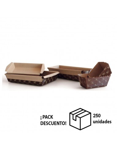 CAJA MOLDE CUBETA MICROONDULADO 19x13,5x3,5 cm (PACK 250 UN)